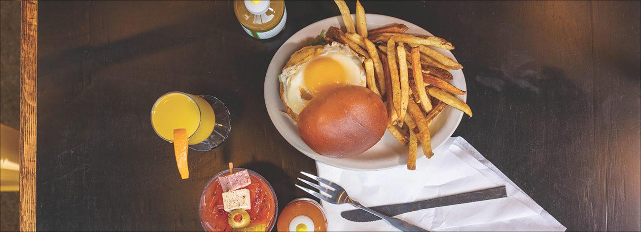 Breakfast burger at Bobcat Bonnie's