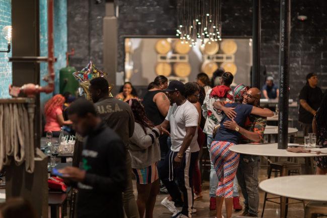 Birthday Party at Detroit Vineyards tasting room