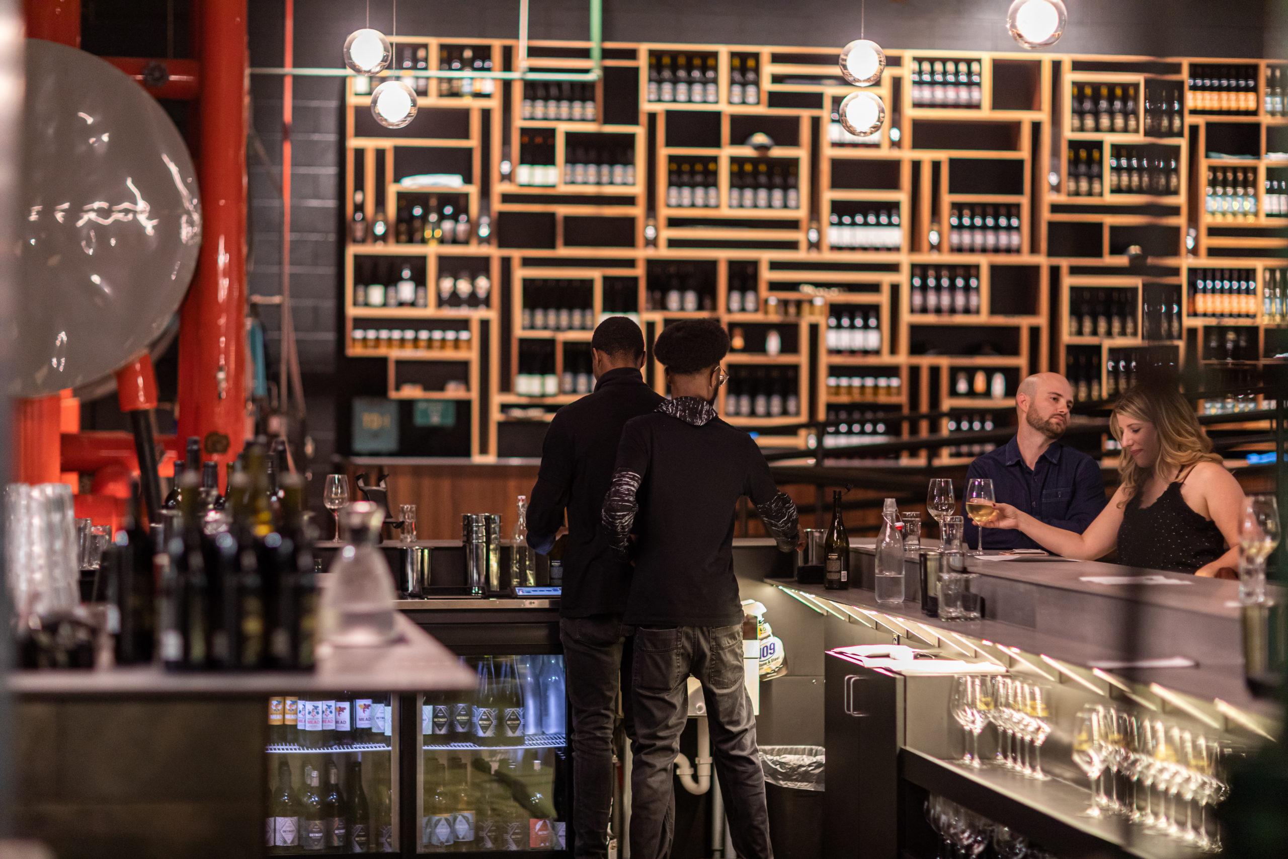 Bartenders at Detroit Vineyards Tasting Room