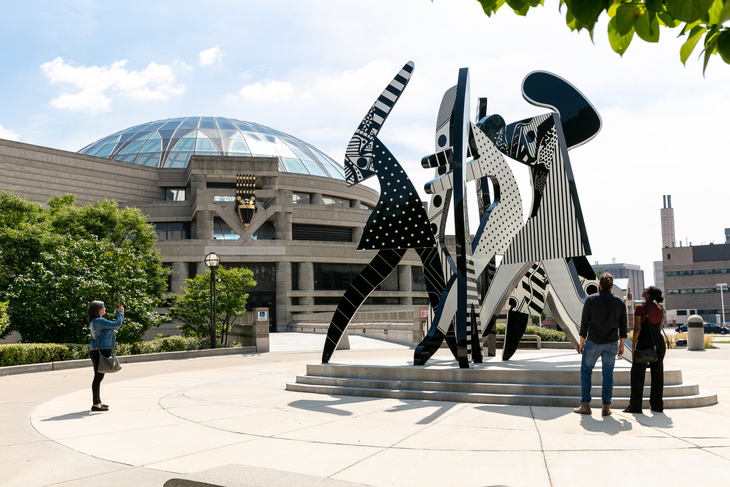Sculpture outside of Charles H. Wright Museum